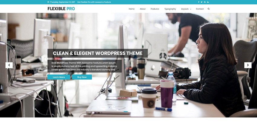 flexible pro multipurpose one-page wp theme
