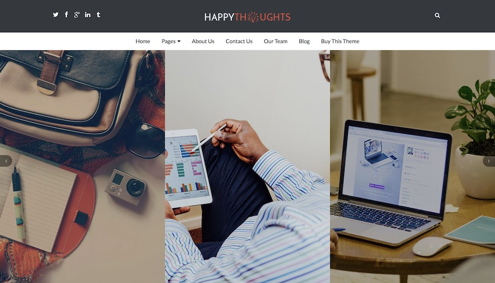 happy thoughts wordpress theme