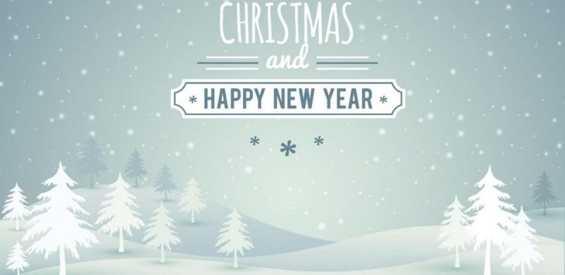 Freebie: Christmas landscape with typography