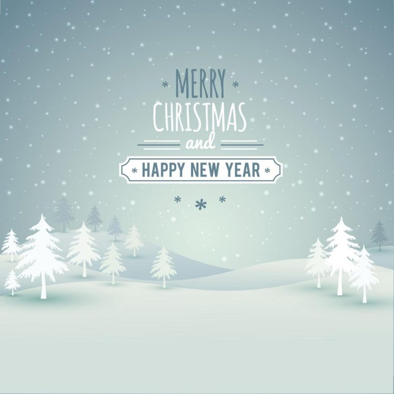 Freebie christmas landscape with typography for Christmas landscape images