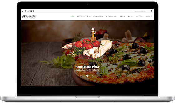 narya wordpress food blog theme