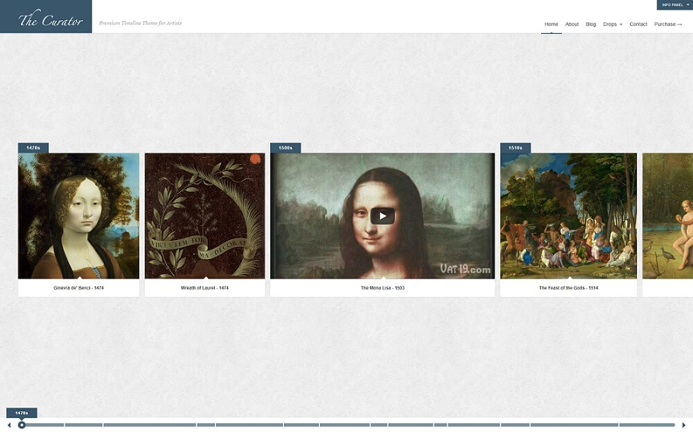 the curator content curation theme