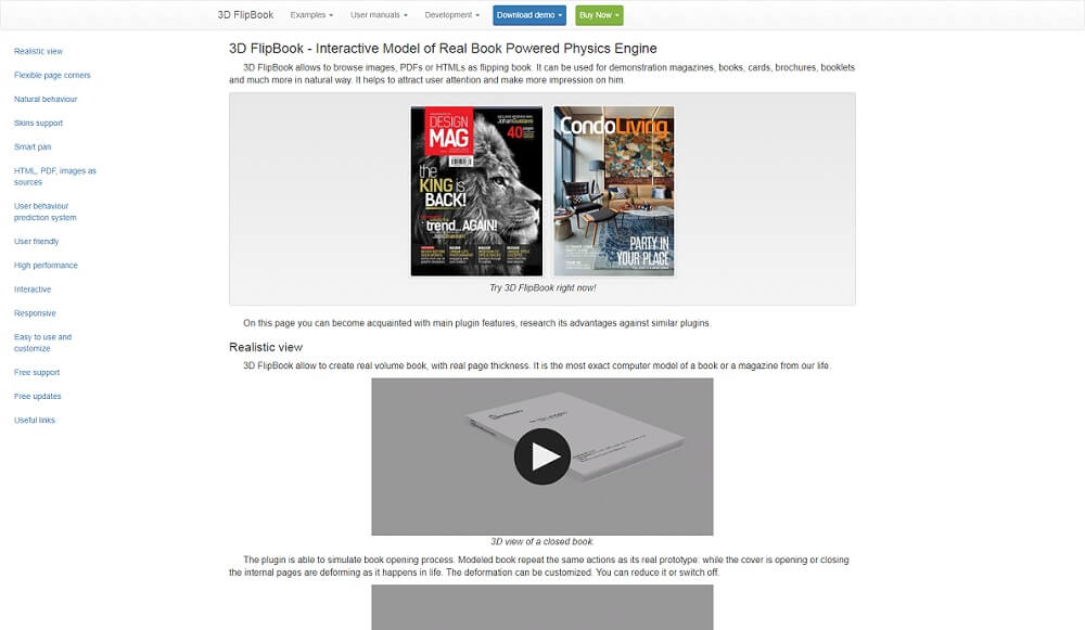 interactive 3d flipbook wordpress plugin