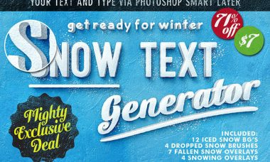 Get Ready for Winter: Snow Text Generator