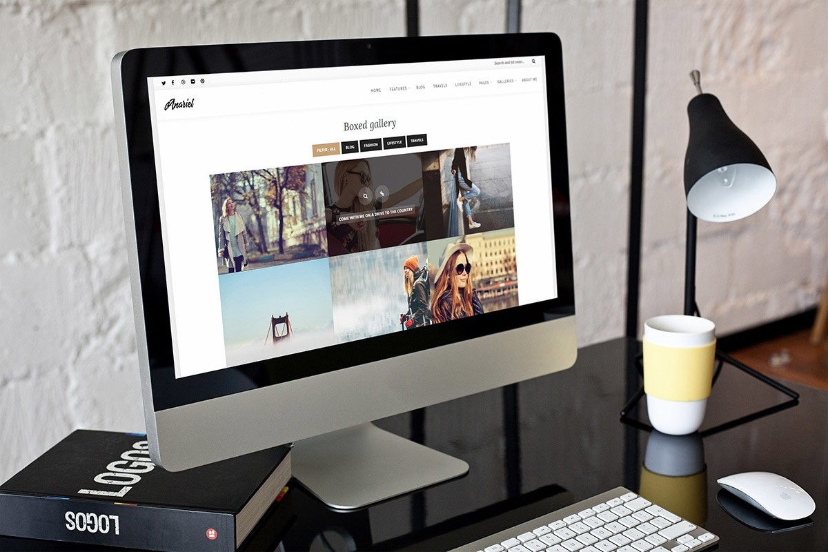 WordPress Fashion Blog desktop view
