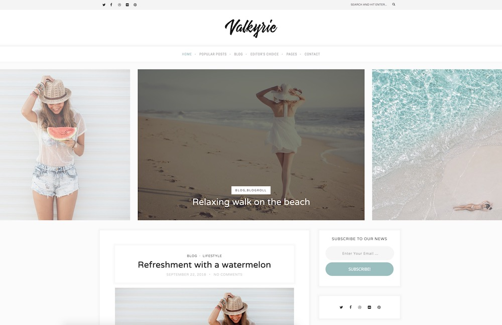 valkyrie fall wordpress theme