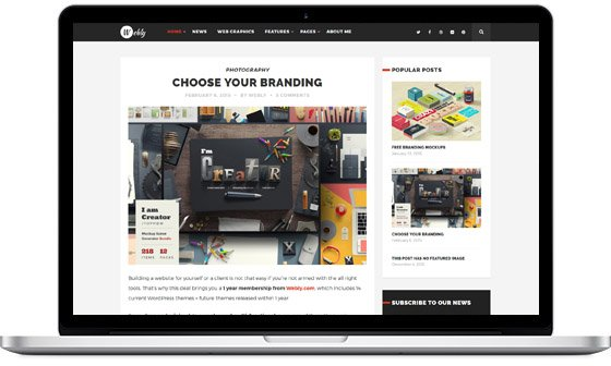 Webly – WordPress Blog Theme