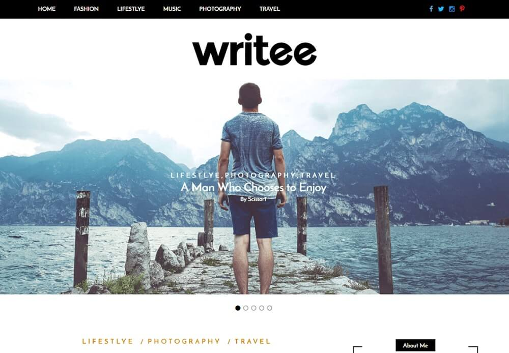 writee free wp blog theme