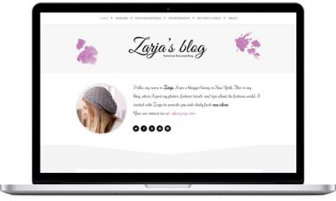 Zarja – Elegant Blog Theme