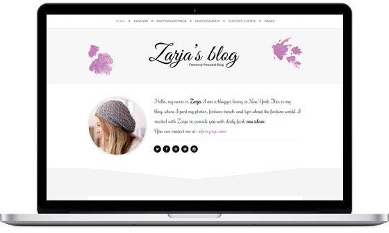 Zarja – Elegant Blog Theme