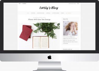 Everly Lite: Free WordPress Lifestyle Blog Theme