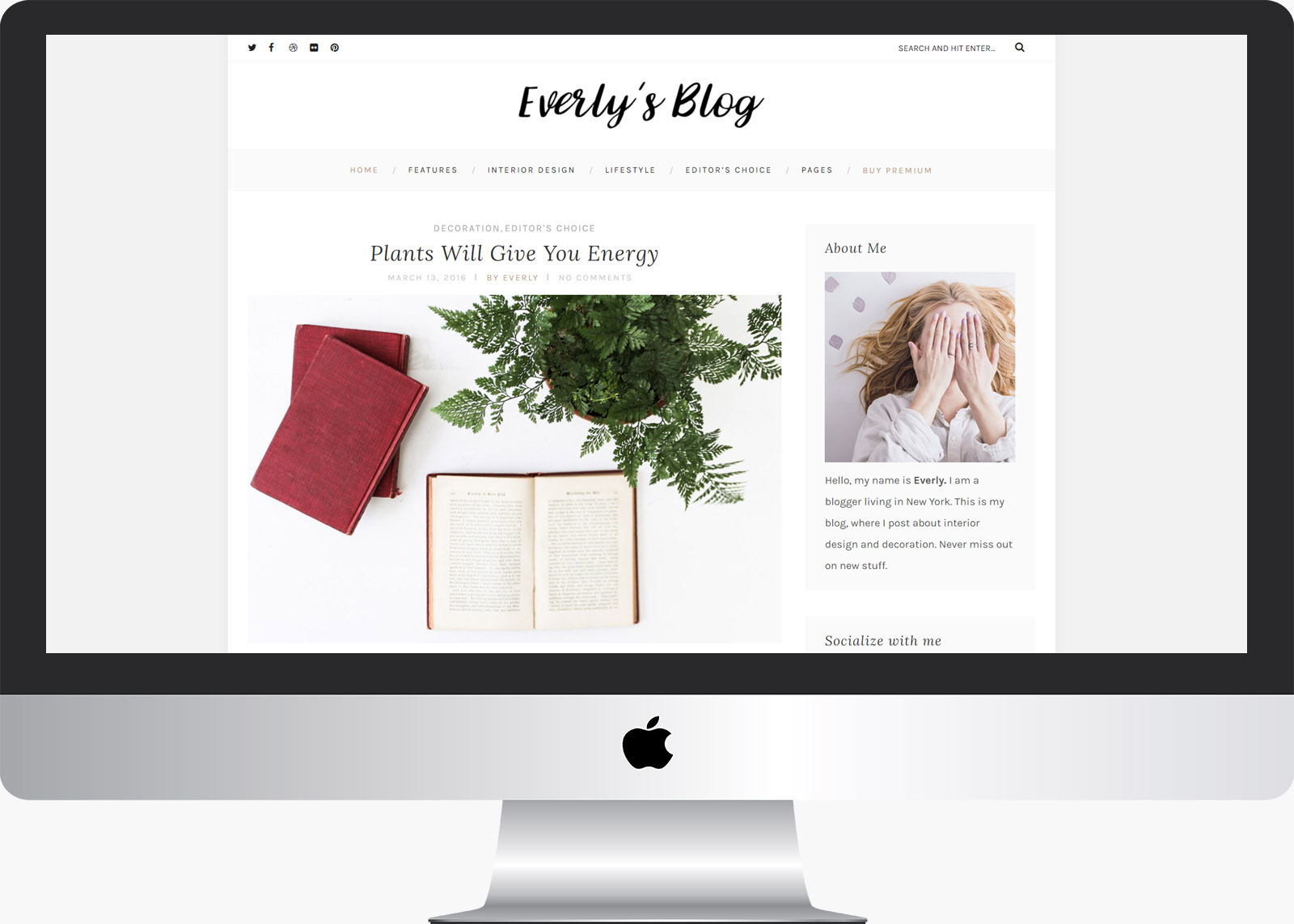 Everly Lite: Free WordPress Lifestyle Blog Theme