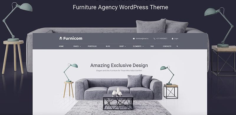 11 WordPress Themes for Furniture Companies 2019