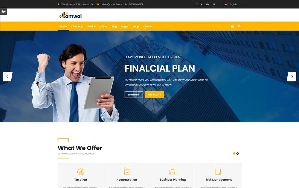 amwal bitcoin wordpress theme