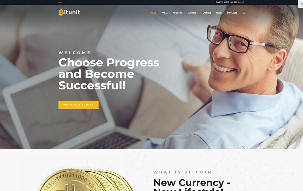 bitunit bitcoin wordpress theme