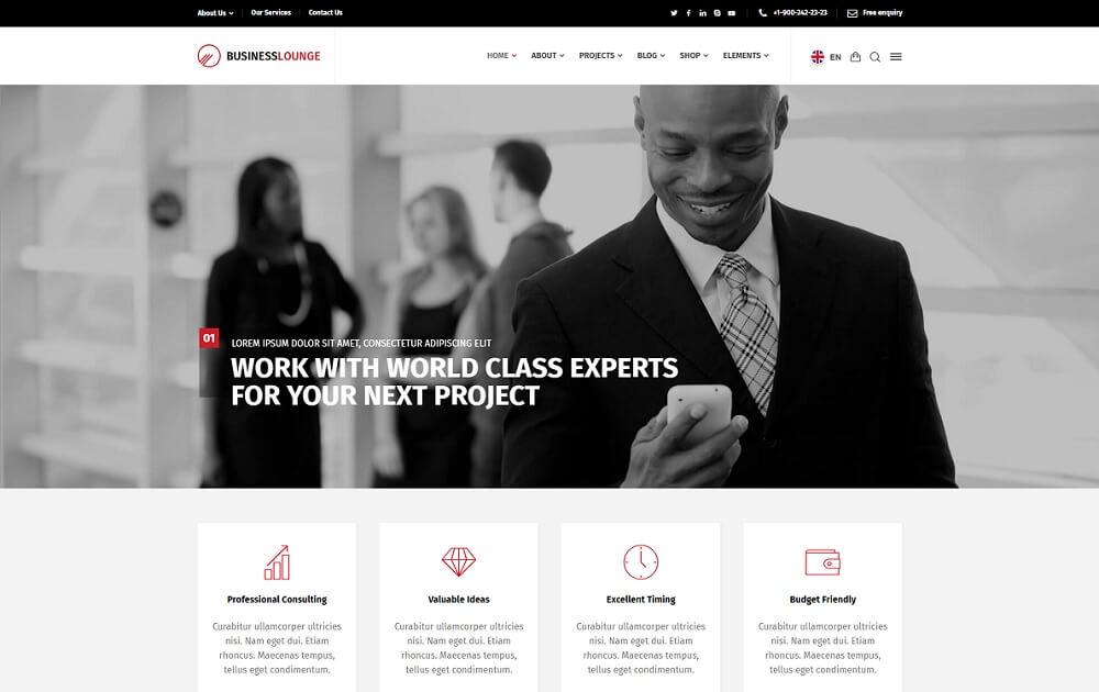 business lounge bitcoin wordpress theme