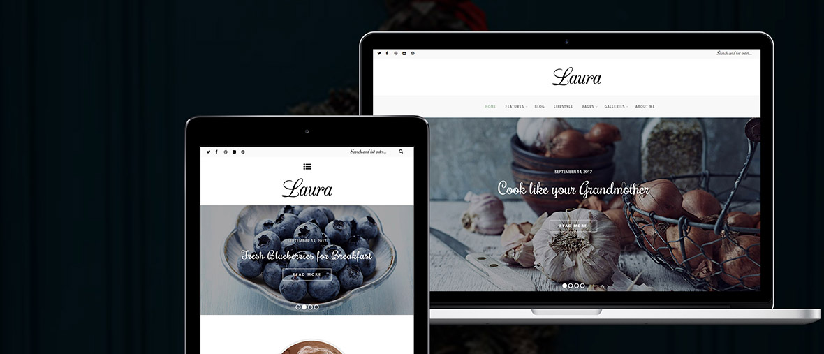 Fullwidth version of Laura Theme for Girls