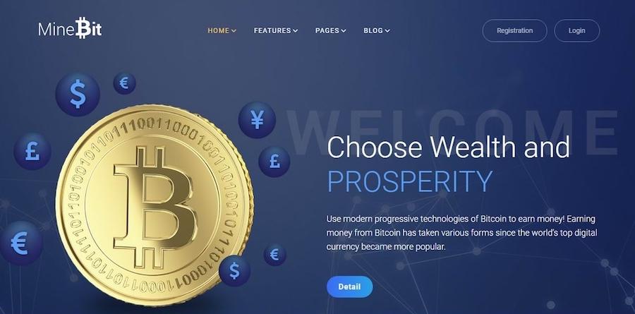 minebit bitcoin wordpress theme