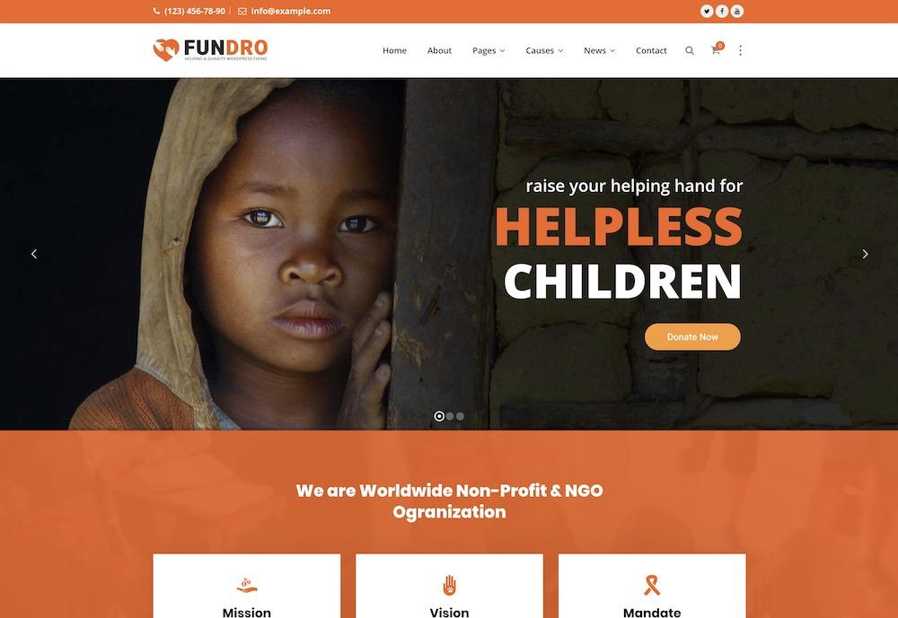 fundro wordpress theme