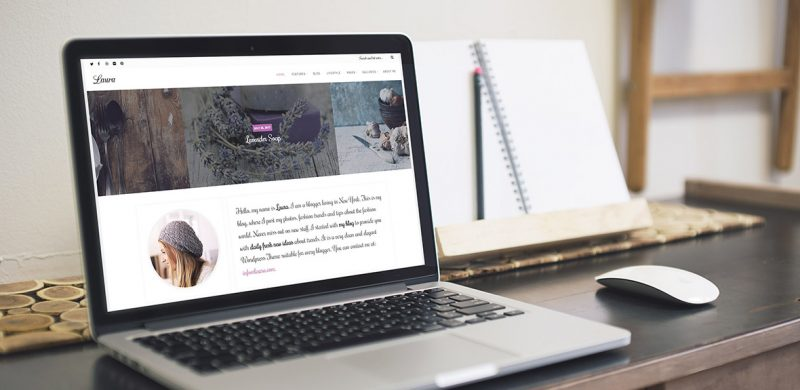 Laura Lite: Free WordPress Feminine Blog
