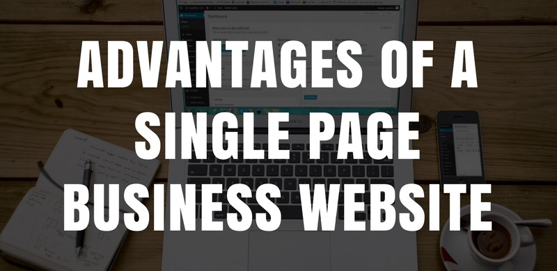 9 Advantages Of A Single Page Business Website