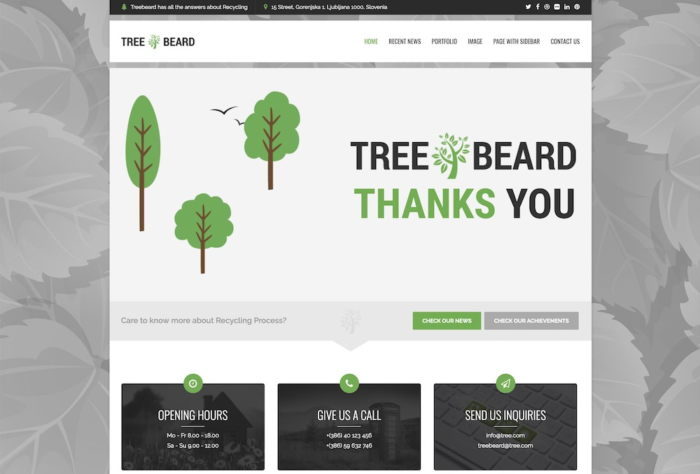 treebeard nature wordpress theme