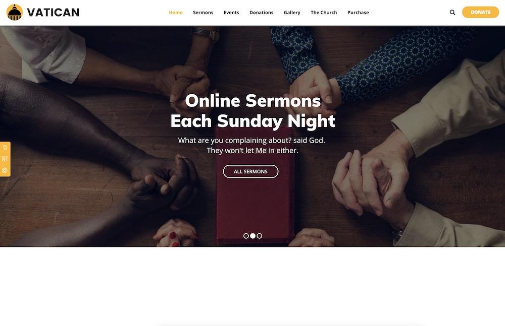 vatican church wordpress theme