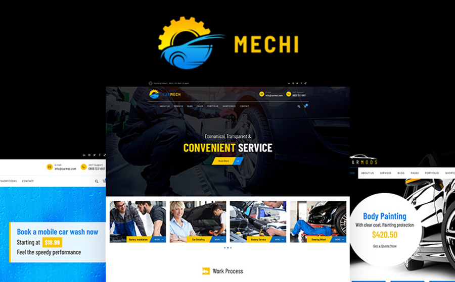 Car Mechanic Responsive WordPress Theme