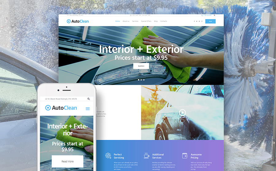 Car Wash & Repair WordPress Theme