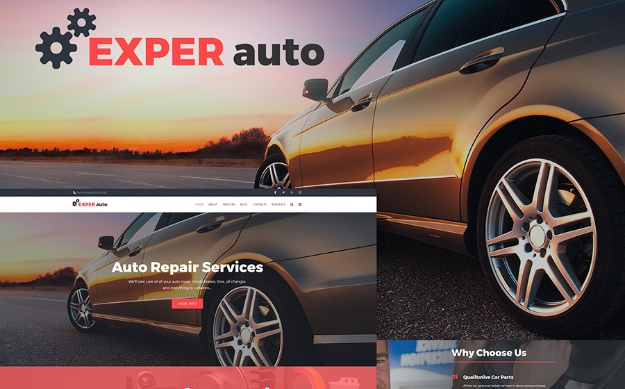Responsive WordPress Theme for Auto Repair Services