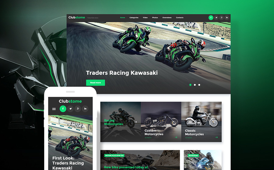 WordPress Theme for Bikers