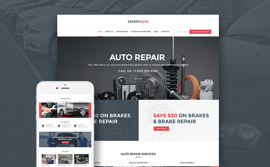 WordPress Theme for Mechanic
