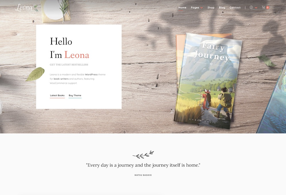 leona wordpress theme book stores