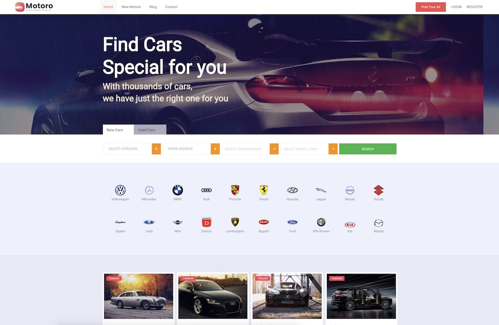 motoro car wordpress theme
