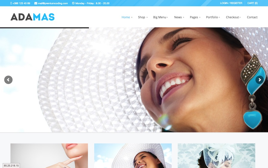 adamas wordpress theme