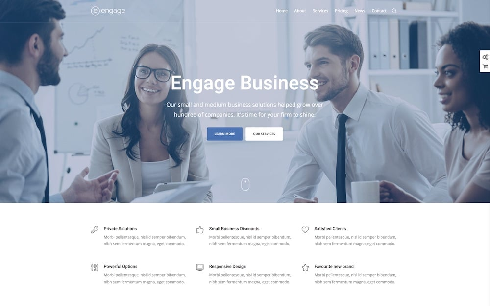 engage wordpress business theme