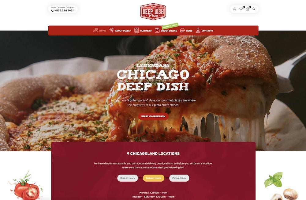 lafka pizzeria wordpress theme