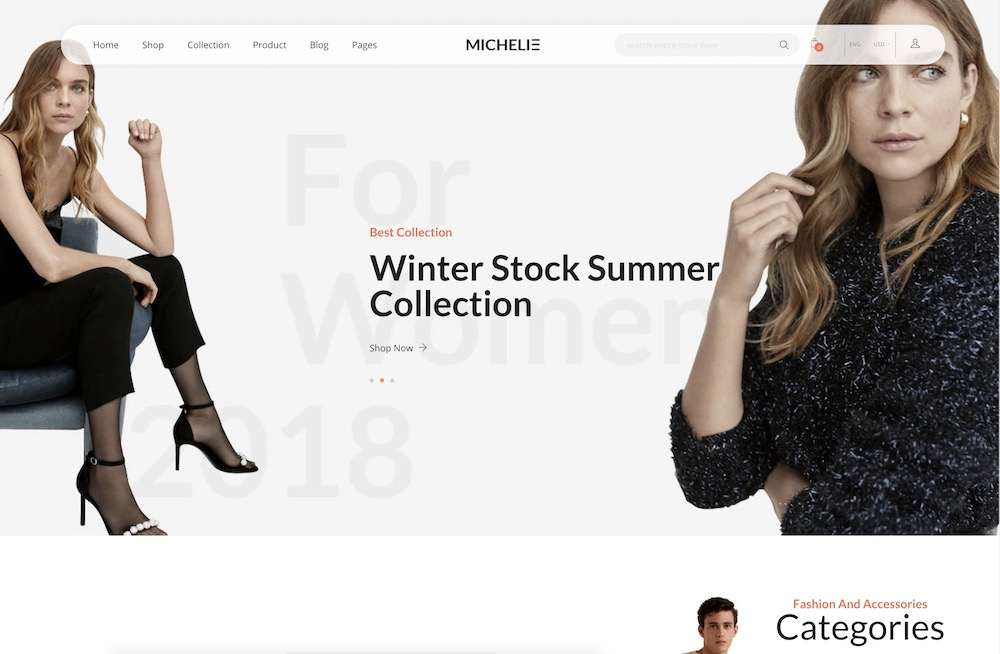 michelie fashion shopify template