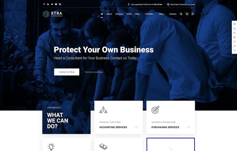 xtra wordpress business theme