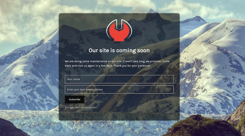 how to create a coming soon page with wordpress
