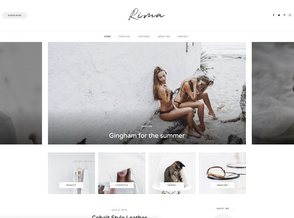 rima cheap wordpress theme