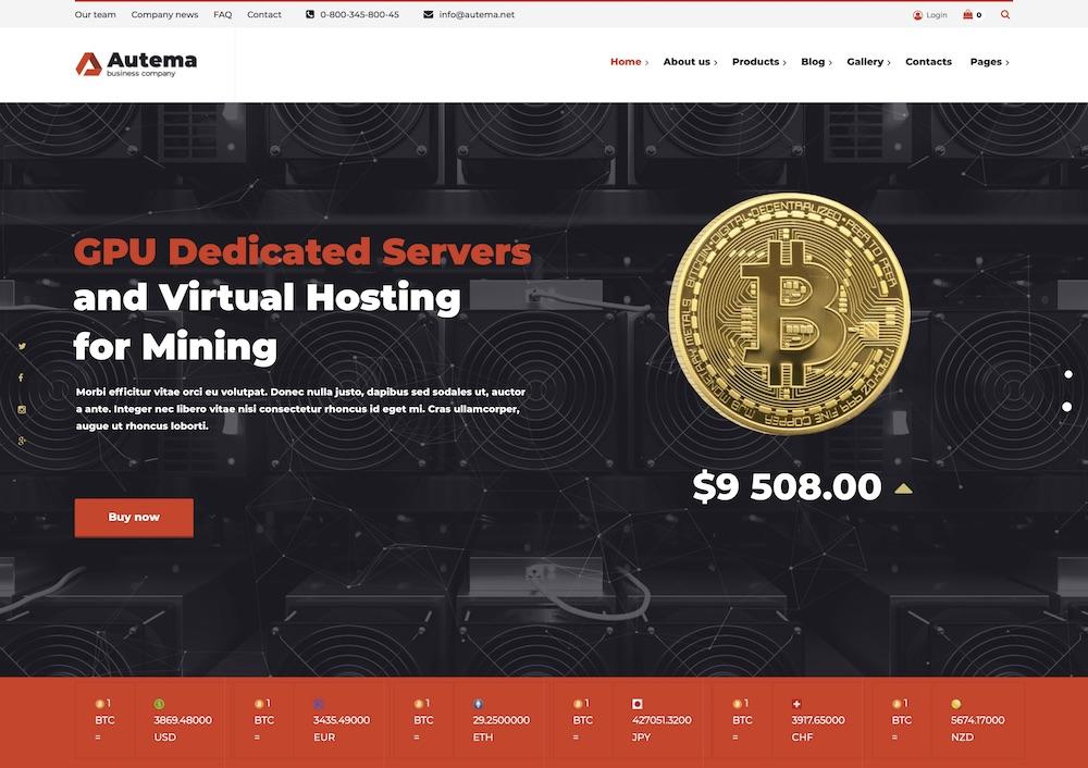 autema bitcoin wordpress theme