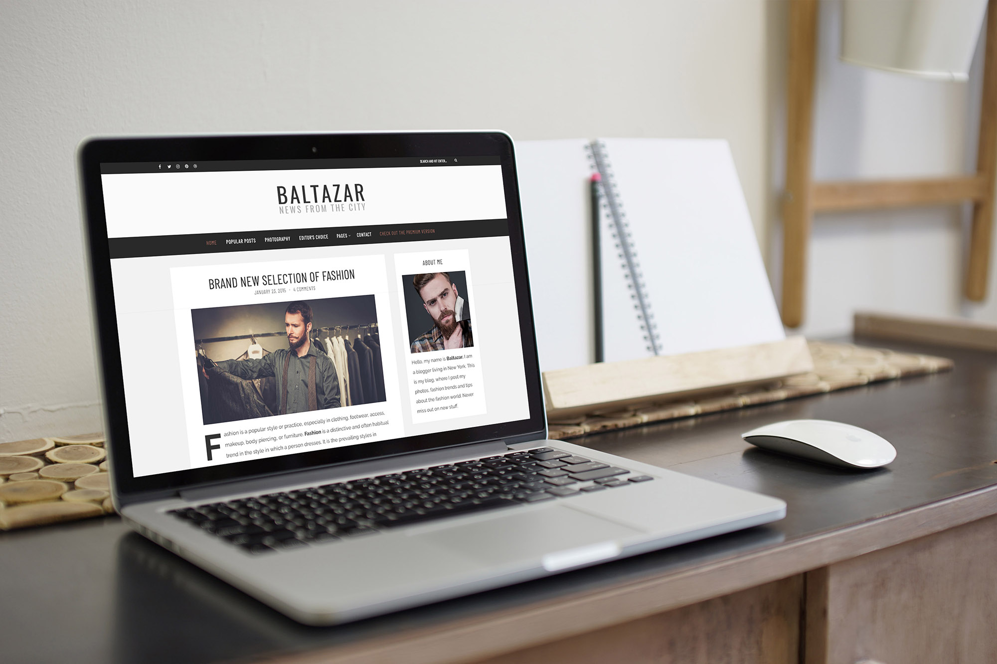 Baltazar - A free masculine WordPress Blog