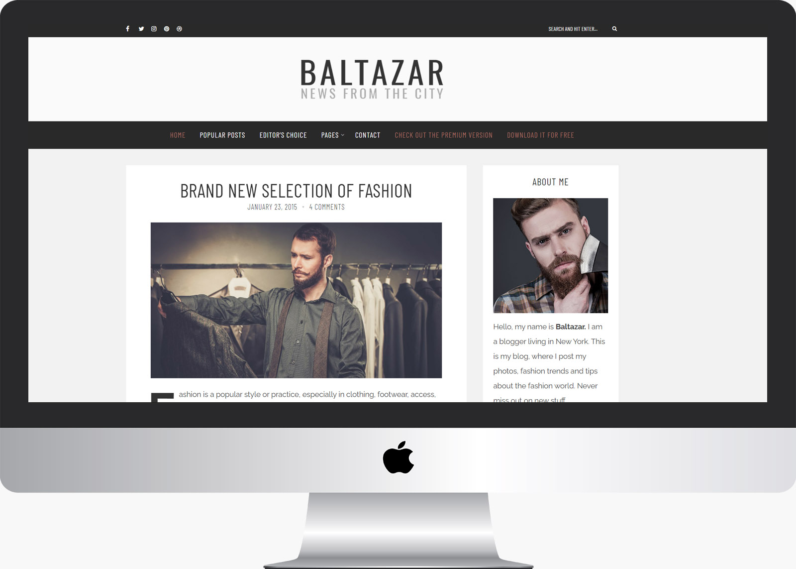 Baltazar Lite: A Free Gentleman's WordPress Blog