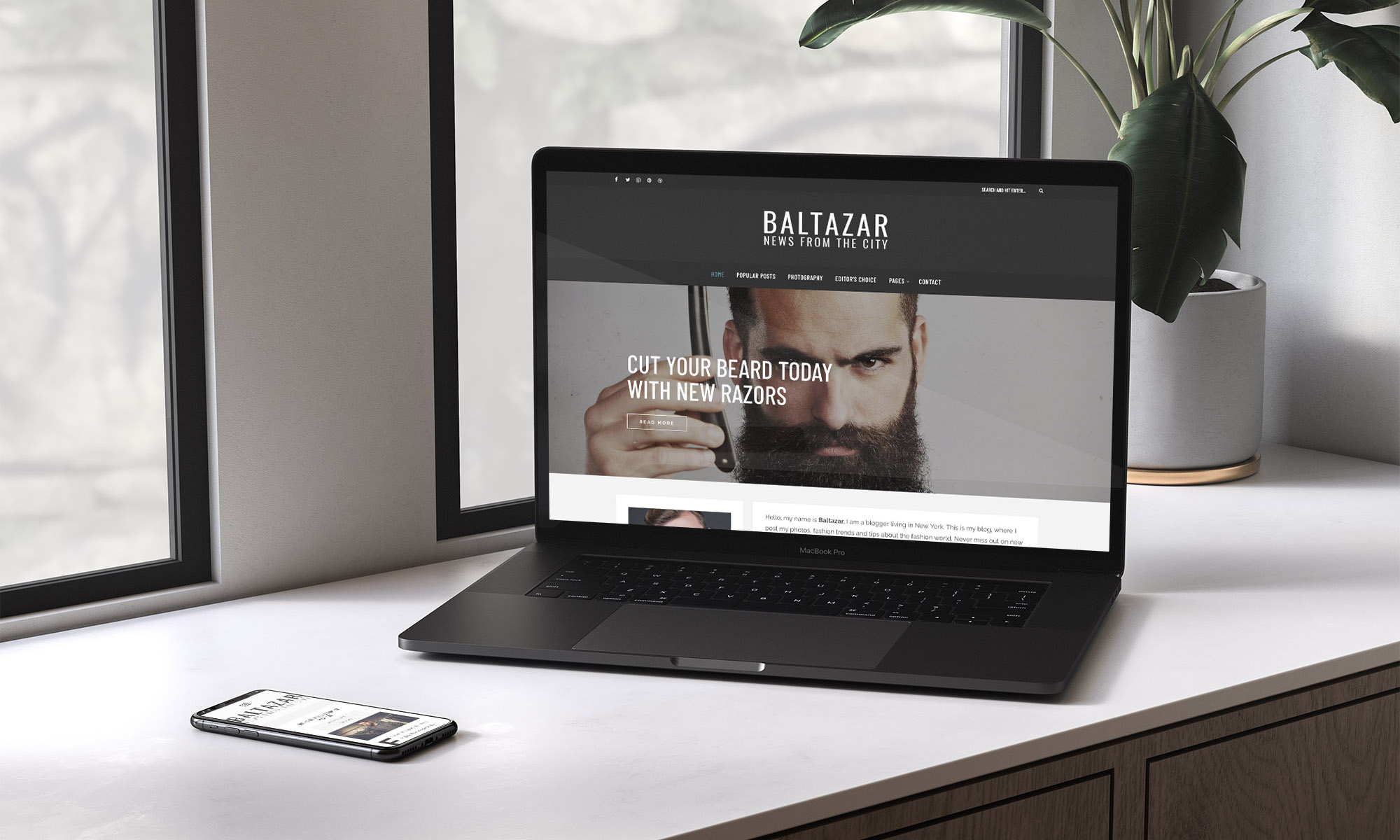 Baltazar WordPress masculine theme