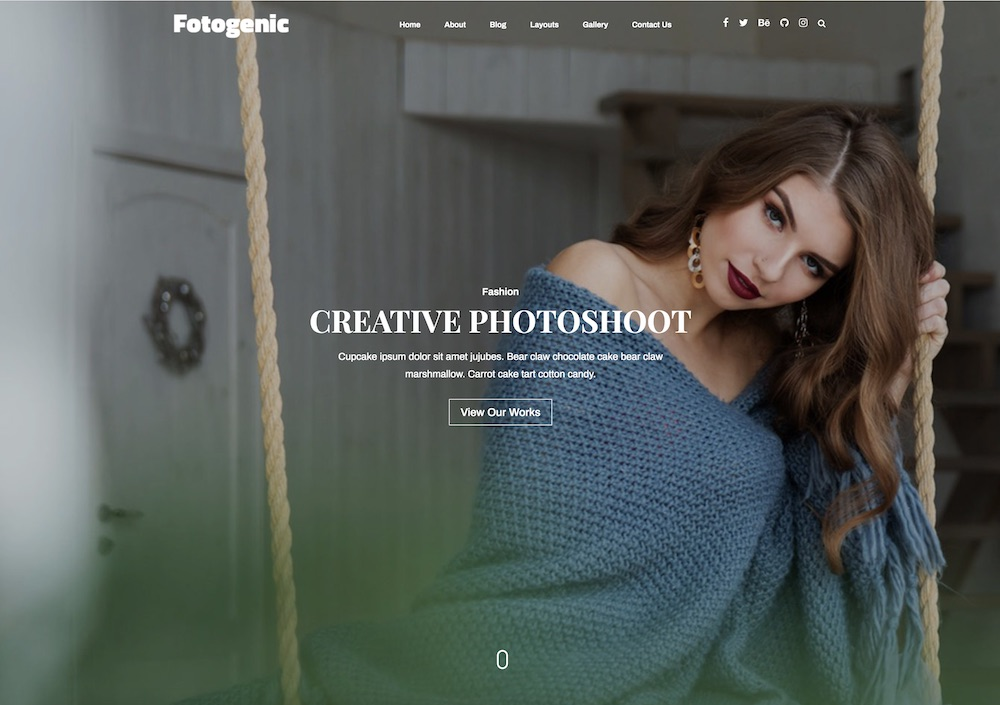 fotogenic free wordpress photography theme