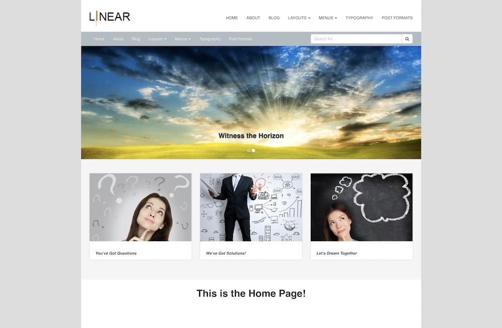 pixel linear free wordpress business theme