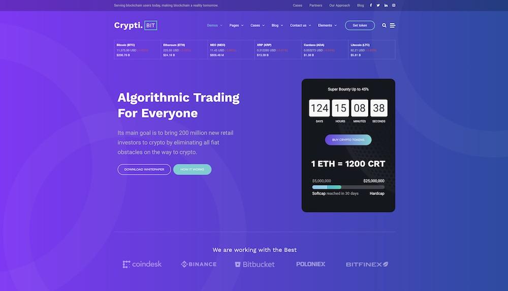 cryptibit bitcoin wordpress theme