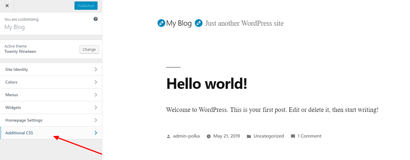 Add additional CSS to WordPress Theme