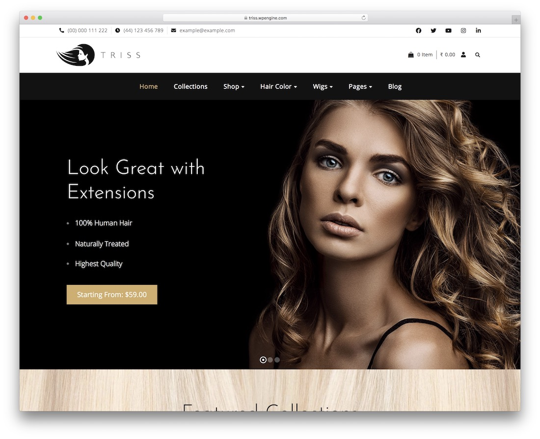 triss cosmetic store woocommerce theme